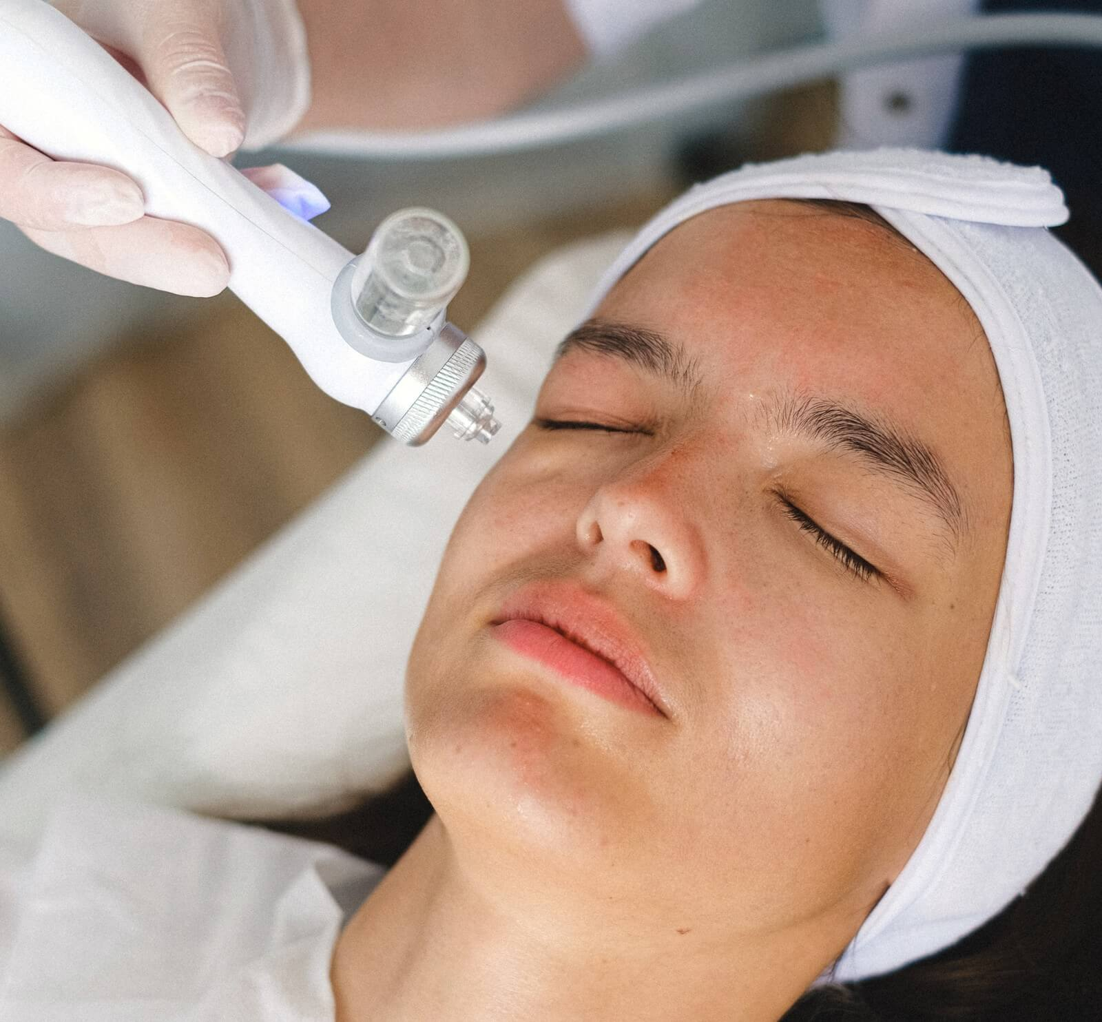 ultherapy perfomed on woman at spa